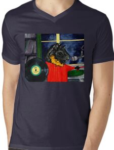 Pigs in the Fog - Merricat DJing Mens V-Neck T-Shirt