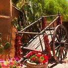 Cart in the Garden by Linda Gregory