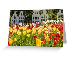 Spring time is Tulip Time Greeting Card