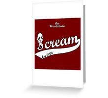 the woodsboro scream Greeting Card