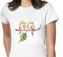 Two Little Birds 1 Womens Fitted T-Shirt