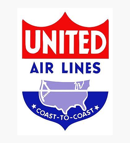 United Luggage Tag Photographic Print