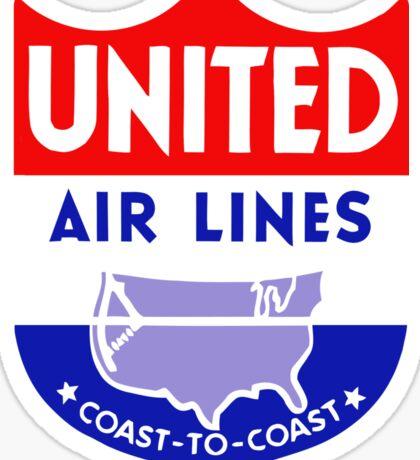 United Luggage Tag Sticker