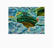 Abstract rocks with barnacles and rock pool Unisex T-Shirt