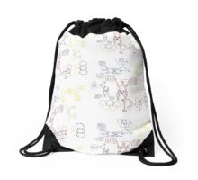 Peter's Olympic weight lifters  Drawstring Bag