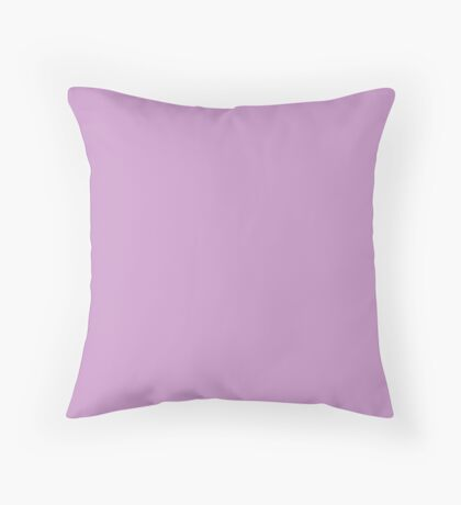 Chalky Pastel Violet Solid Color Throw Pillow