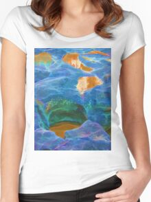 Abstract beautiful rock pools Women's Fitted Scoop T-Shirt