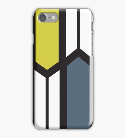 Post Mod Desaturated Chevrons iPhone Case/Skin