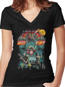 Mad Fury Concert Tour Women's Fitted V-Neck T-Shirt