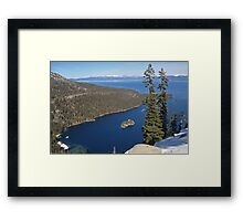 Emerald Bay From Way Above Framed Print