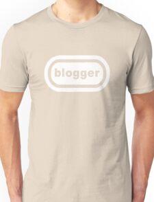 Blogger (white print) Unisex T-Shirt