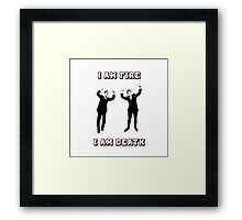 I am fire, I am death Framed Print