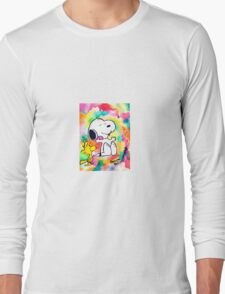 Colorful and Trippy Snoopy and Woodstock :)  Long Sleeve T-Shirt