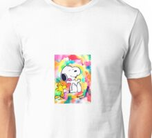 Colorful and Trippy Snoopy and Woodstock :)  Unisex T-Shirt