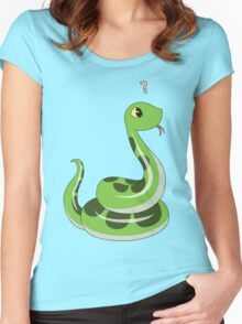 Chibi snake Women's Fitted Scoop T-Shirt
