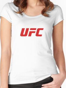 UFC Logo Blood Red | 2016 Women's Fitted Scoop T-Shirt
