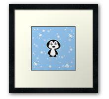 Penguin Blue Framed Print