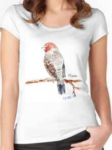 Red-headed Finch (Rooikop Vink) Women's Fitted Scoop T-Shirt