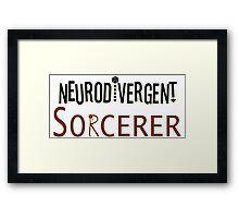 Neurodivergent Sorcerer Framed Print