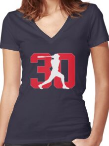 Naquin Women's Fitted V-Neck T-Shirt