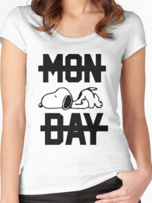 Snoopy Lazy Monday Women's Fitted Scoop T-Shirt