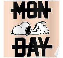 Snoopy Lazy Monday Poster