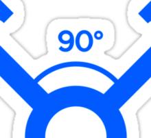 90 degree V engine (3) Sticker