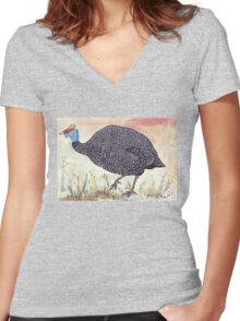 What's it worth in Guineas? Women's Fitted V-Neck T-Shirt