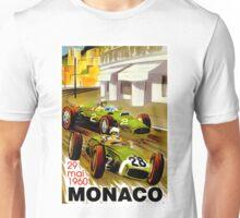 """MONACO"" Vintage Grand Prix Auto Racing Print Unisex T-Shirt"
