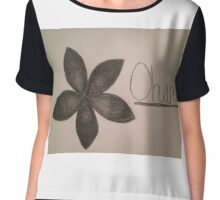 Ohana - Black/White Chiffon Top