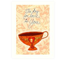 What my Coffee says to me -  June 21, 2012 Art Print