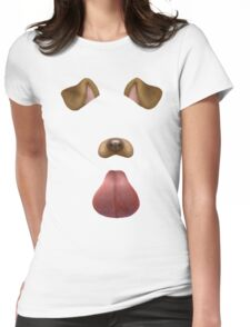 Snapchat Dog Filter Womens Fitted T-Shirt