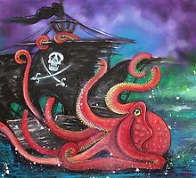 A Pirates Tale - Attack Of The Mutant Octopus by Laura Barbosa
