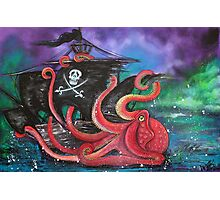 A Pirates Tale - Attack Of The Mutant Octopus Photographic Print