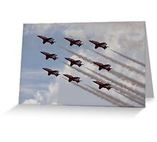 Red Arrows Aviation display team Greeting Card