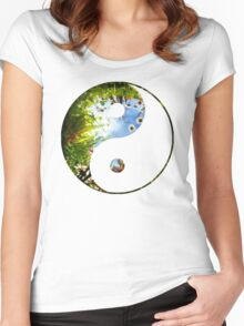 Yang_of_Gaia_9 Women's Fitted Scoop T-Shirt