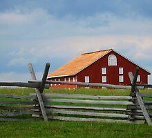 Red Barn, Gettysburg Battlefield, PA, Fine Art Print by lifetravelphoto