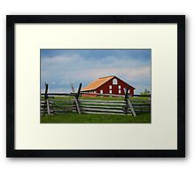 Red Barn, Gettysburg Battlefield, PA, Fine Art Print Framed Print