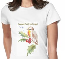 Season's Greetings! 1 Little bird (1) Womens Fitted T-Shirt