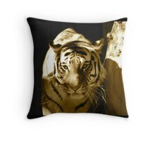 Amur Tiger in Sepia Throw Pillow
