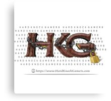 Rock Out with Hard Knock Gamers (with Print Behind Logo) Canvas Print
