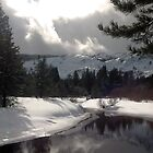 Break in the Clouds at the Upper Truckee River by Jared Manninen