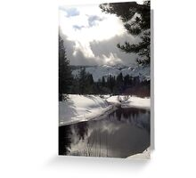 Break in the Clouds at the Upper Truckee River Greeting Card