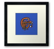 Medieval Squirrel letter E Framed Print