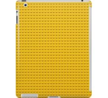 Building Block Brick Texture - Yellow iPad Case/Skin