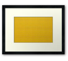 Building Block Brick Texture - Yellow Framed Print