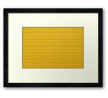 Building Block Brick Texture - Yellow Framed Print