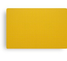 Building Block Brick Texture - Yellow Canvas Print