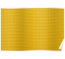 Building Block Brick Texture - Yellow Poster
