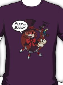 Skullgirls(Peacock)-Flip the Birdie T-Shirt